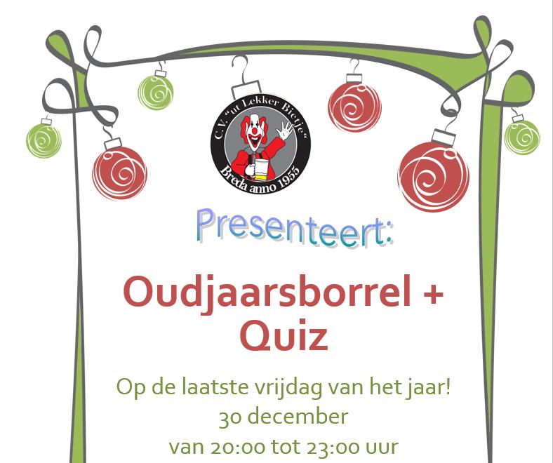 Oudjaarsborrel + Quiz!